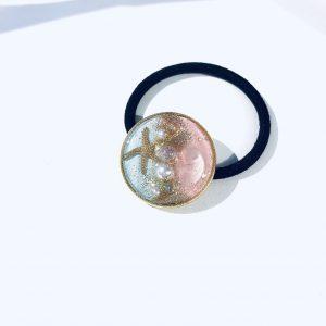海のヘアゴム (淡水淡ピンク)①