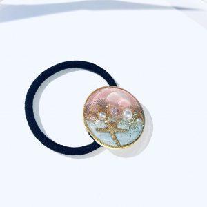 海のヘアゴム (淡水淡ピンク)②