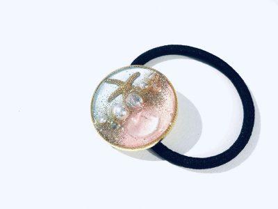 海のヘアゴム (淡水淡ピンク)
