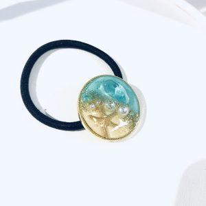 海のヘアゴム (ターコイズイエロー)①