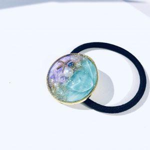 海のヘアゴム (ターコイズ紫)②